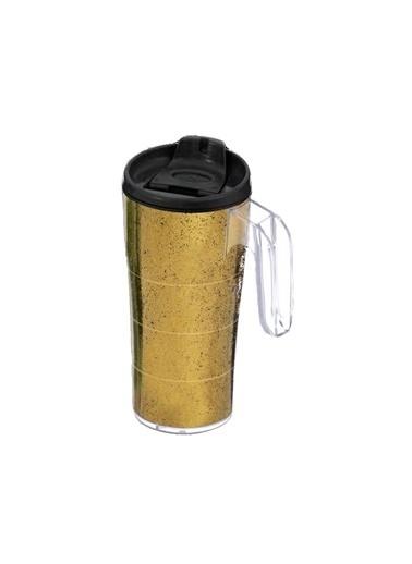 Herevin Herevin 161487-013 Simli Kulplu Mug Kahve Bardağı Altın Altın